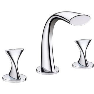 Ultra Faucets UF55510 2 Handle Chrome Twist Collection Lavatory Widespread Faucet