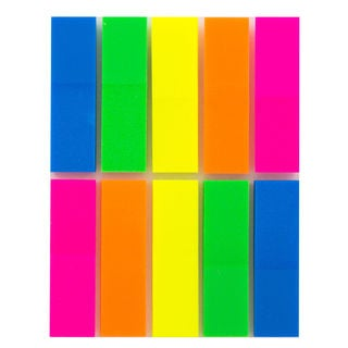 Bazic Products 5154-288 Stick On Flags Assorted Neon Colors 250 Count