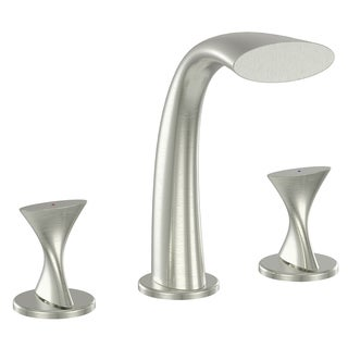 Ultra Faucets UF65303 Brushed Nickel 2 Handle Twist Roman Tub Faucet
