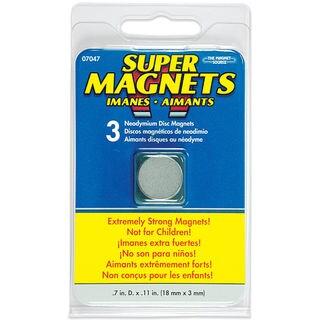 Master Magnetics 07047 Neodymium Disc Magnets 3 Count