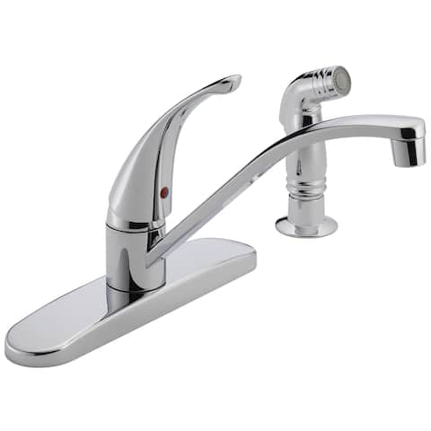 Peerless P188500LF Chrome Single Handle Kitchen Faucet With Side Spray
