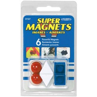 Master Magnetics 07507 Red, White & Blue Posting Magnets 6 Count
