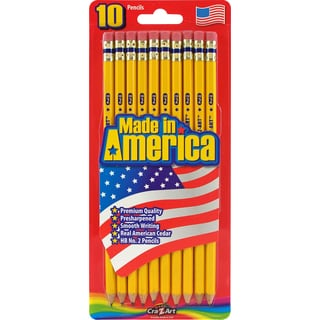 Cra-Z-Art 12001 #2 Yellow Pre Sharpened Pencils 10 Count