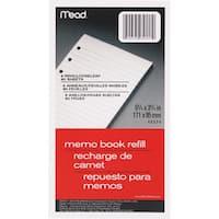 """MeadWestvaco 46534 80 Count 3-3/4"""" x 6-3/4"""" Memo Book Refill"""