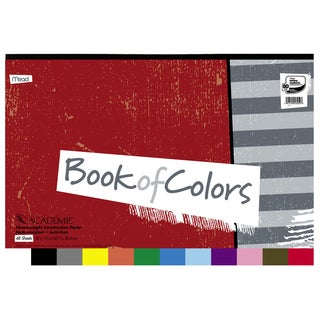 "MeadWestvaco 53052 48 Sheet 18"" X 12"" Academie Bk Of Colors Construction Paper"