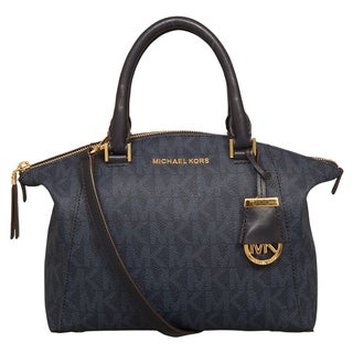 Michael Kors Small Riley Baltic Blue Satchel Handbag