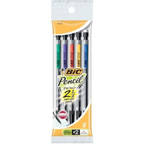 Bic MPP51-BLACK 0.7mm #2 Grade Mechanical Pencil 5 Count