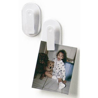 Spectrum Diversified 12100 White Magnetic Clips 2 Count