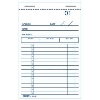 """Rediform-Blueline 5A200 3"""" X 5"""" Sales & Guest Check Books"""