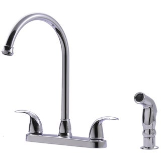 Ultra Faucets UF21040 Two-Handle Chrome Kitchen Faucet With Matching Side Spray