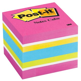 "3M 2051-FLT 2"" X 2"" Post It Note Cube Assorted Neon & Ultra Colors