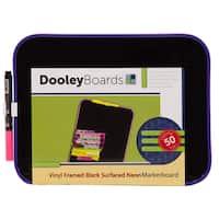 """Dooley Boards 811NMBV 8.5"""" X 11"""" Black & Neon Dry Erase Board"""