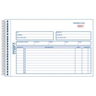 "Rediform-Blueline 7L721S 5-1/2"" X 7-7/8"" Carbonless Duplicate Invoice Book"