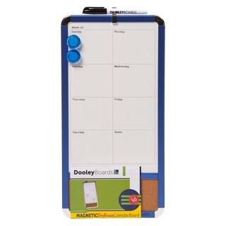 "Dooley Boards 817CALMG 8-1/2"" X 17"" Magnetic Dry Erase Calendar Board Assorted"