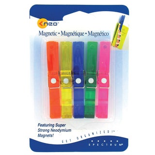 Spectrum Diversified 13030JN Large Memo Clothespin Magnets Assorted Colors