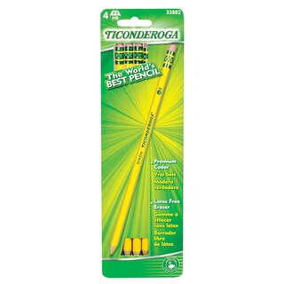 Ticonderoga 33882 #2 Soft Pre Sharpened Pencils 4 Count