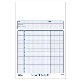 "Rediform-Blueline 8L882 5"" X 8"" Carbonless Statement Book"