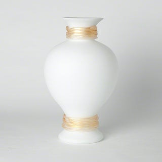 Torcello Gold/Frosted White Glass Vase