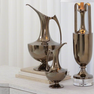 Grecian-style Bronze Ceramic Large Ewer