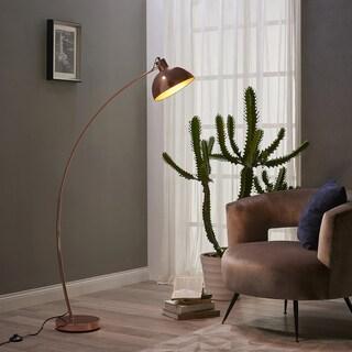 Versanora - Arco Gold Rose Copper/Metal/PVC/Plastic Floor Lamp