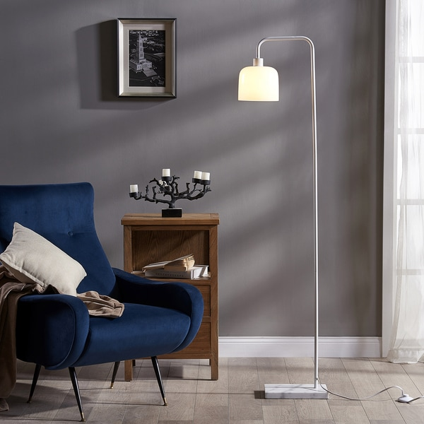 Teamson Versanora Chiara White Metal Floor Lamp