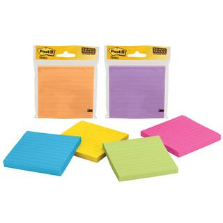 "3M 4490-SSMX 4"" X 4"" Super Sticky Post-It Notes Assorted Colors 90 Sheet