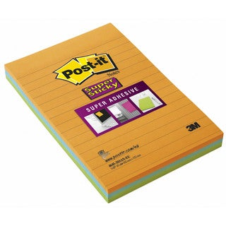 """3M 4645-3SSAN 4"""" x 6"""" Assorted Colors Sticky Post-it® Notes"""