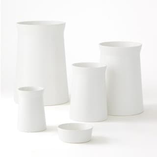 Moon White Ceramic 4-piece Canape Bowl Set