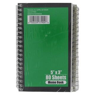 """Norcom 77904-72 5"""" X 3"""" Memo Book Assorted Colors"""