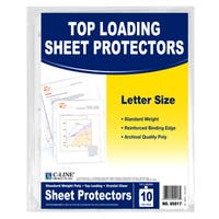 """C Line Products Inc 05017 11"""" L X 8"""" W Clear Top-Loading Sheet Protector Pack 10 Ct"""
