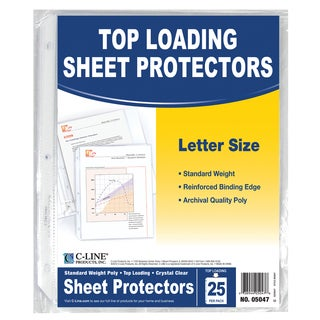 "C Line Products Inc 05047 11"" X 8"" Top Loading Sheet Protectors 25 Count"