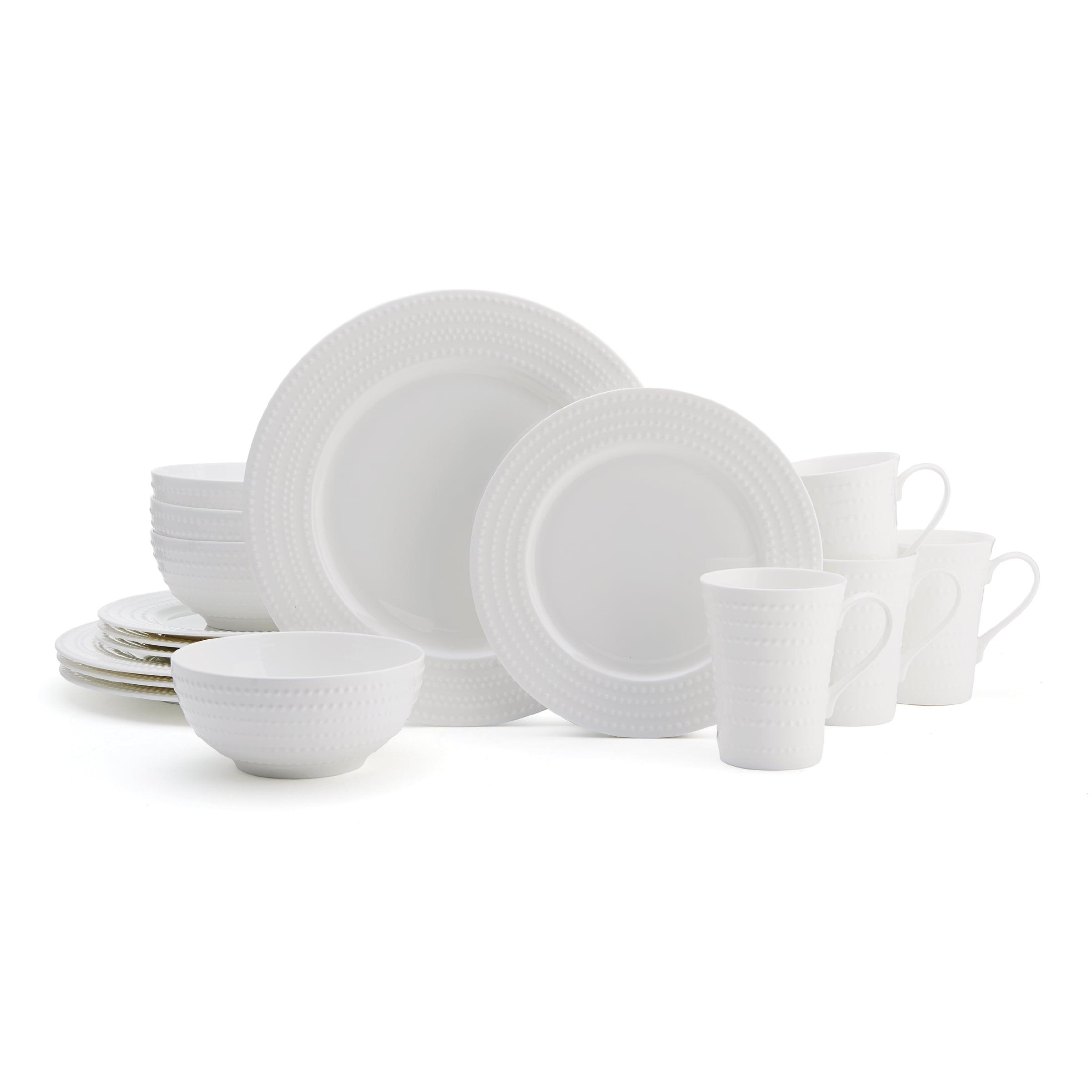 Mikasa Nellie White Bone China 16 Piece Dinnerware Set Overstock 12838959