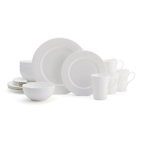 Mikasa Nellie White Bone China 16-piece Dinnerware Set  sc 1 st  Overstock.com & Mikasa Nellie White Bone China 16-piece Dinnerware Set - Free ...