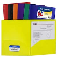 C Line Products Inc 33950 Two Pocket Heavyweight Poly Portfolio Assorted Colors