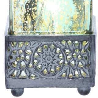River of Goods Studio Art Mercury Glass 12.9-inch-high Square Uplight Accent Lamp