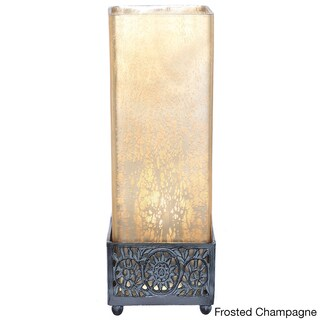 Pine Canopy Malheur Mercury Glass 12.9-inch Square Uplight Accent Lamp (3 options available)