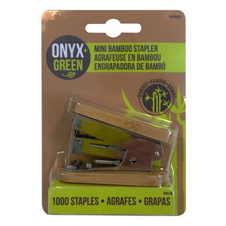 Onyx And Blue Corporation 4803 Bamboo Mini Stapler