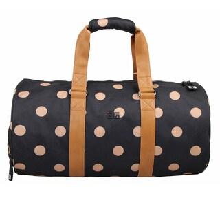 AfterGen City Sports Black/Brown Polyester Polk-dDot Duffel Bag