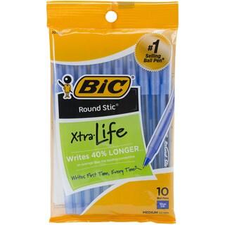 Bic GSMP101-BLU Blue Round Stic Ballpoint Pen 10 Count