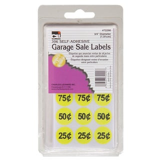 Charles Leonard Inc. 72290 Self Adhesive Garage Sale Labels