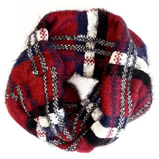 LA 77 Infinity Textured Knit Scarf
