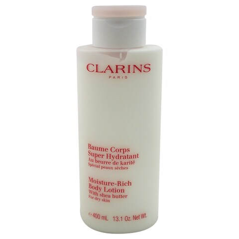 Clarins Moisture-Rich 13-ounce Body Lotion with Shea Butter for Dry Skin