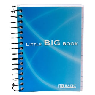 """Bazic Products 518-48 4"""" X 5.5"""" Premium Spiral Fat Book Notebook Assorted Colors"""