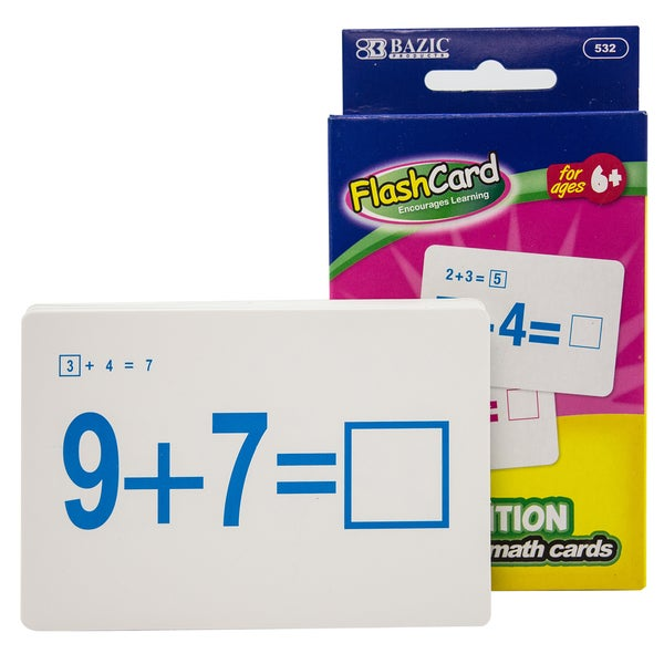 36//Pack BAZIC Addition Flash Cards