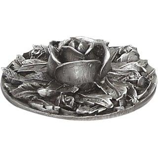 Rose Bushel Grey Pewter 2-inch Candle Jar Top Votive Lid