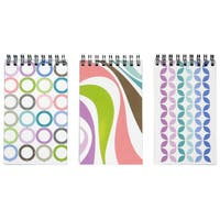 """Carolina Pad 10744 3"""" X 5"""" Poly Cover Pattern Notebook Assorted Colors"""