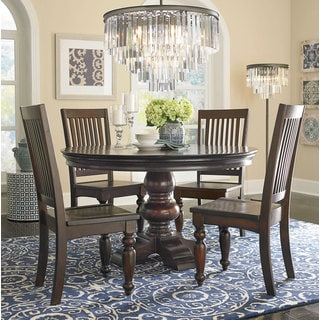 Melar Solid Mango Wood Round Dining Table