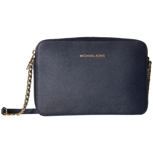 dabd501d6ba5 Michael Kors Jet Set Travel Admiral Blue Leather Large Crossbody Handbag