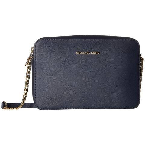 Michael Kors Jet Set Travel Admiral Blue Leather Large Crossbody Handbag