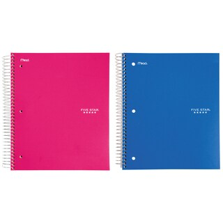 Five Star 06112 200 Count 5 Subject Assorted Wirebound Notebook